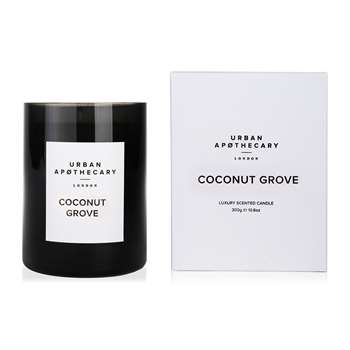 Urban Apothecary London - Luxury Scented Candle - Black Glass - Coconut Grove (10.5 x 9.3cm)