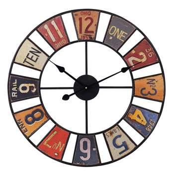 USA clock (34 x 34cm)