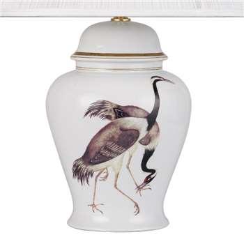 V & A Cranes Large Temple Jar Lamp Base (42 x 30cm)
