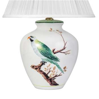 V & A Green Parrot Small Lamp Base (31 x 19cm)