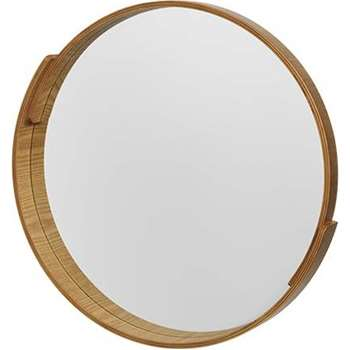 V&A Plywood Round Mirror, Natural (Diameter 50cm)