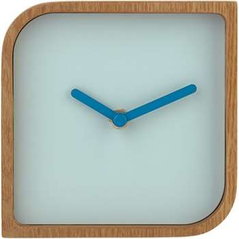 V&A Plywood Table Clock, Square, Natural (13 x 13cm)