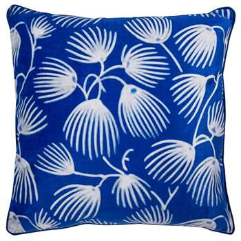 V & A Seed Heads Blue Cushion (H50 x W50cm)
