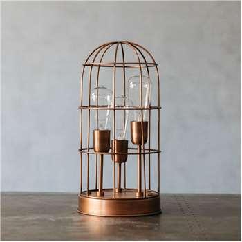 Vaga Copper Cage Lamp (43 x 21cm)