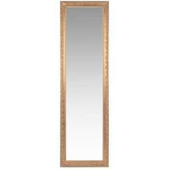 VALENTINE Matte Gold Paulownia Cheval Mirror (H170 x W50cm)