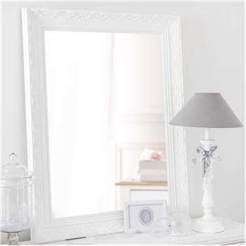 VALENTINE paulownia wood mirror in white H 90cm
