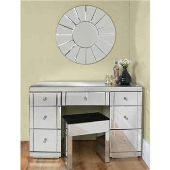 VALERIA Toughened Mirrored Dressing Table (80 x 120cm)
