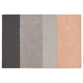 Vance Block Stripe Large Hand Tufted Wool Rug, Dusky Pink (H160 x W230cm)