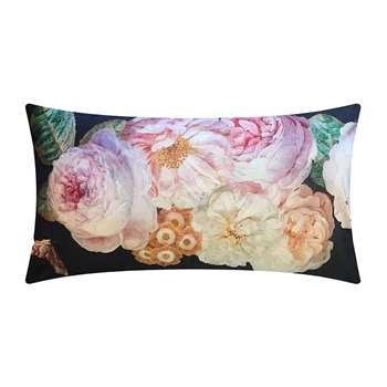 Vanilla Fly - Black Rose Velvet Cushion (H40 x W80cm)