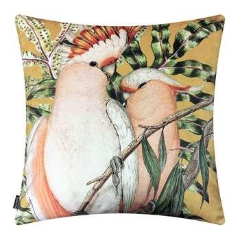 Vanilla Fly - Cockatoo Velvet Cushion - Curry (H50 x W50cm)