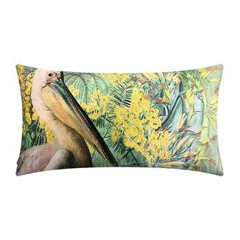 Vanilla Fly - Pelican Mimosa Velvet Cushion (H40 x W80cm)