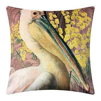 Vanilla Fly - Pelican Velvet Cushion - Pink (H50 x W50cm)