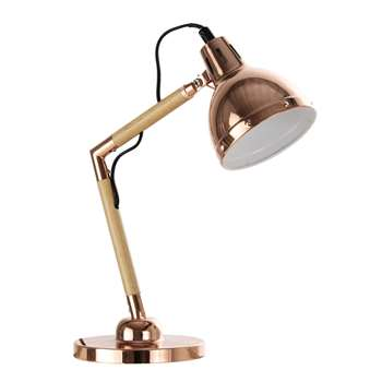 VANITE copper metal desk lamp (34 x 14cm)
