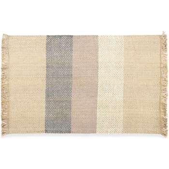 Varzea Jute Wool Rug Medium, Natural/Blue (H140 x W200cm)