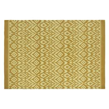 VASCA Yellow Outdoor Carpet with Graphic Motifs (160 x 230cm)