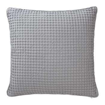 Veiros Cushion Cover, Light Grey Waffle Design (50 x 50cm)