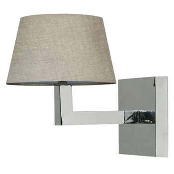Veldi Wall Lamp, Chrome (20 x 16cm)