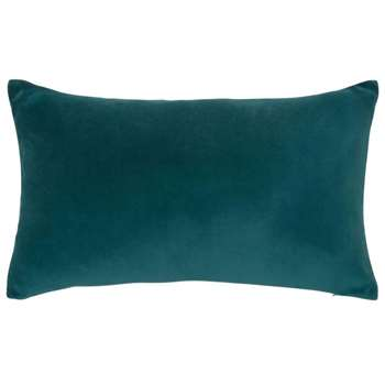 Velvet cushion in peacock blue (30 x 50cm)