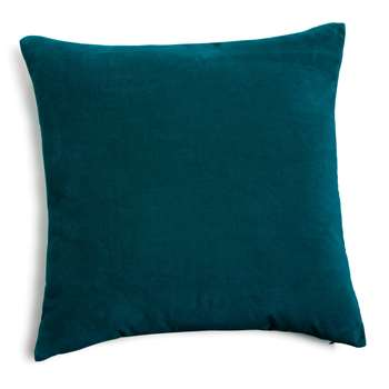 Velvet cushion, peacock blue (45 x 45cm)