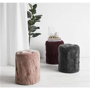 Velvet Pouffe in Various Colours (H46 x W40 x D40cm)