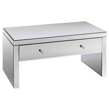Venetian Mirrored Coffee Table with Single Drawer (45 x 90cm)