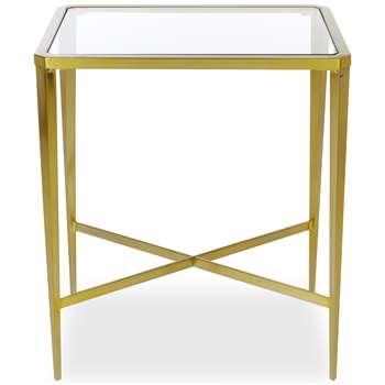 Venezia Gold Side Table (H60 x W50 x D35cm)