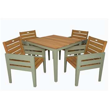 Verdi Wooden Dining Set 75 x 95cm