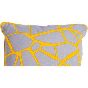 Verdon Cushion, Grey and Yellow Mix (45 x 45cm)