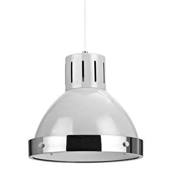 Vermont Light Grey Chrome Pendant Light