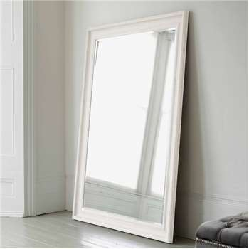Vermont Oversized Mirror - Antique White (H190 x W140cm)