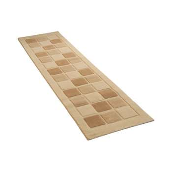 Verona Blocks Runner - 60 x 230cm - Natural
