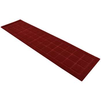 Verona Blocks Runner - 60 x 230cm - Red