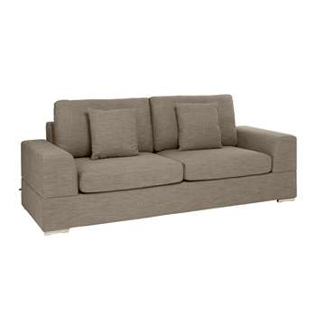 Verona three seater sofa bed mocha (74 x 230cm)
