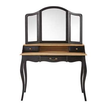 VERSAILLES Black Mango Wood Dressing Table (155 x 110cm)