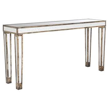 Versailles Mirrored Console Table, Large - Glass (H78 x W154 x D40cm)