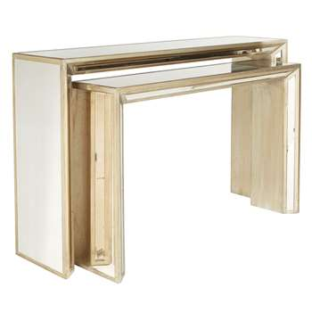 Versailles Nested Consoles - Antique Gold (81 x 130cm)