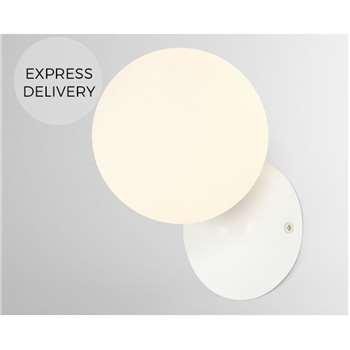 Vetro Bathroom Wall Light, White (H17 x W12 x D14cm)