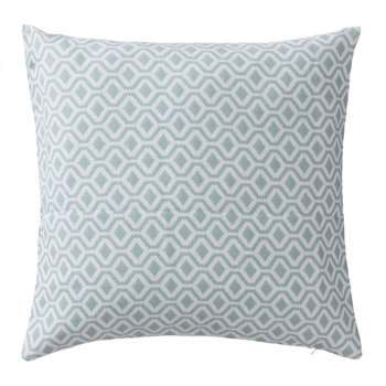 Viana Cushion Cover, Grey Green & White Geometric Design (50 x 50cm)