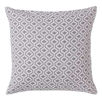 Viana Cushion Cover, Grey & White Geometric Design (50 x 50cm)