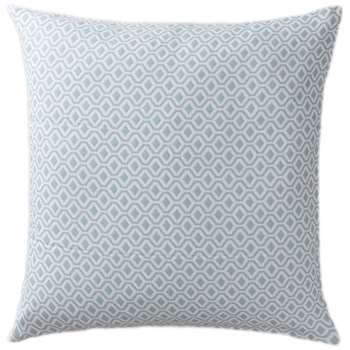 Viana Large Cushion Cover, Grey Green & White Geometric Design (80 x 80cm)