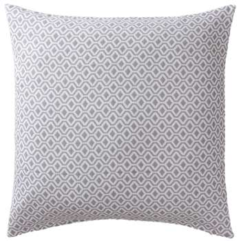 Viana Large Cushion Cover, Grey & White Geometric Design (80 x 80cm)