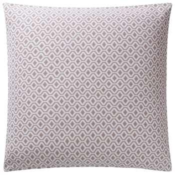 Viana Large Cushion Cover, Natural & White Geometric Design (80 x 80cm)