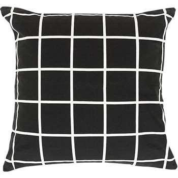 Vico Grid Cushion, Black and White (55 x 55cm)