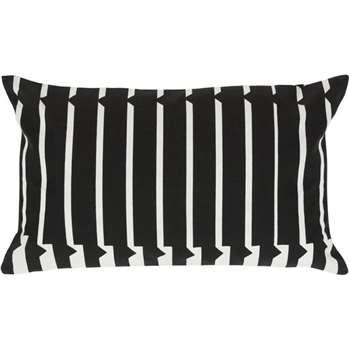 Vico Mono Stripe Cushion, Black and White (30 x 50cm)