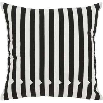 Vico Mono Stripe Cushion, Black and White (45 x 45cm)