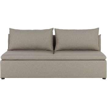 Victor Modular Sofa Storage Double Seat, Portland Grey (74 x 193cm)