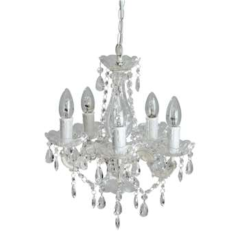 VICTORINE 5-light droplet chandelier D 34 cm