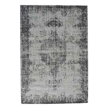 VILLANDRY off-white/grey short pile rug (140 x 200cm)