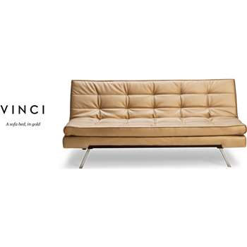 Vinci Sofa Bed, Gold (81 x 180cm)