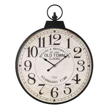 VINTAGE metal pocket watch clock (78 x 60cm)
